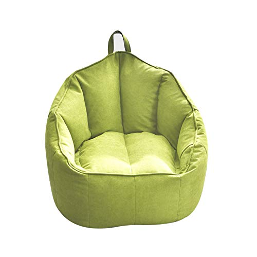 QWERTP Bean Bag Sofa Chairs Cover, Classic Lazy Lounger Bean Bag Storage Chair for Adults and Kids for Home Garden Lounge Living Room Indoor Outdoor,Green