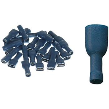 10x Gelb Crimpzange Flachstecker Crimp Zange Flach Stecker Kabelschuhe kfz ARLI Flachsteckh/ülsen vollisoliert 6,3 x 0,8 mm 100x Flachsteckh/ülse 40x Rot 50x Blau