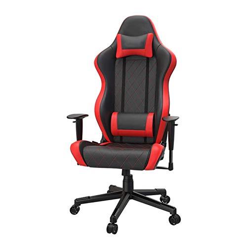 DJDLLZY - Sedia per computer con schienale alto, sedia da scrivania in pelle PU, sedia da ufficio, sedia da gioco con schienale alto e supporto lombare per computer