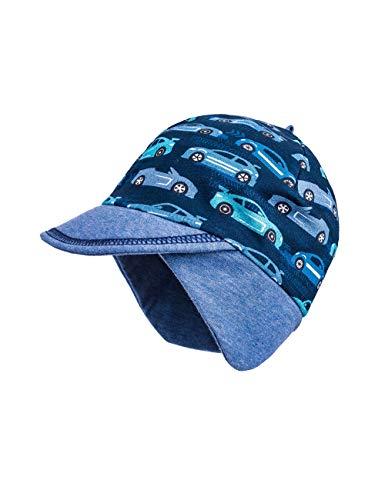 maximo Baby-Jungen Jerseymütze Mütze, Mehrfarbig (Blue Opal-Capri-Autos 76), (Herstellergröße: 47)