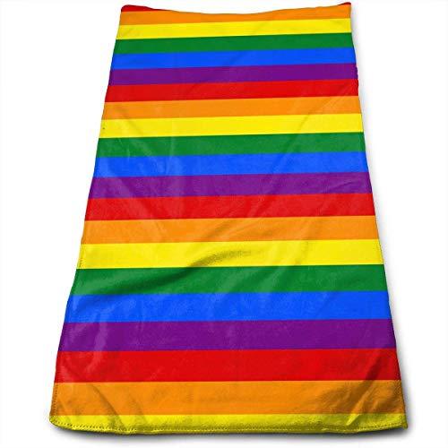 FERNMXZ - Toallas de baño, diseño de bandera del arcoíris gay, muy absorbentes, multiusos, para gimnasio y spa, 30,5 x 27,5 pulgadas