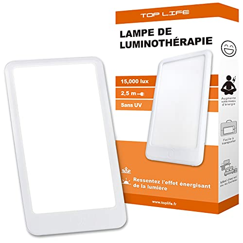 Lampe de Luminothérapie 15000 Lux - Puissante Lumière Pour Le Moral - Lampe de Jour Réglable 3 Intensités (10000 lux, 6000 lux)
