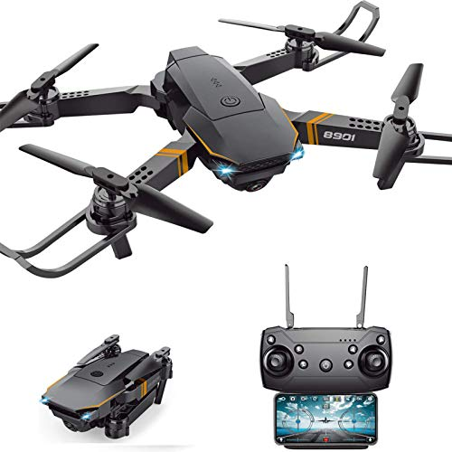 Sftoys Drone with Camera, FPV WiFi 1080P HD Drone for Kids Adults Beginners, Foldable RC Quadcopter Drone, Live Video, Headless Mode,One Key Return, 3D Flips,3 Speed Mode,Altitude Hold,App Control