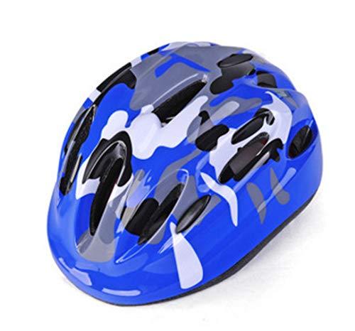Jugend Mountain Inliner Skateboard Schutzhelm Rollschuhlaufen Farbiger Helm,Kinder Skateboarder Helm Fahrradhelm Integralhelm Rollerhelm für Radfahrer Scooter Bike Sicherheit Helm Kids ,Sapphireblue