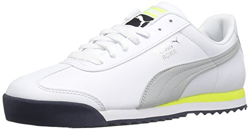 PUMA Men's Roma Basic Fashion Sneaker, Puma White-Gray Violet, 8 M US
