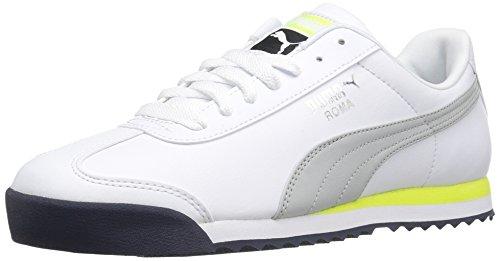 PUMA Men's Roma Basic Fashion Sneaker, Puma White-Gray Violet, 8.5 M US