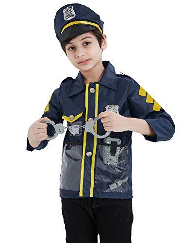EZSTAX Disfraz de Policía para Niños de Halloween
