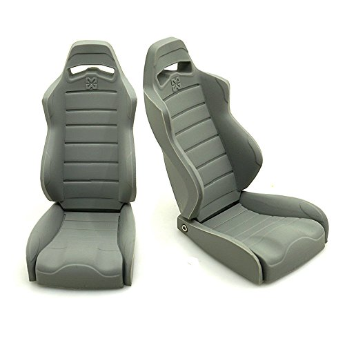 1/10 RC Car Accessories Rubber Simulation High Back Seat Chairs for 1/10 Axial Wraith 90018 RC Crawler Car Pack of 2