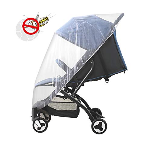 Thistars Baby Stroller Universal Breathable Insect net Mosquito net, Suitable for All Strollers, Cradle, to Prevent Baby from Being Bitten by Mosquitoes, White