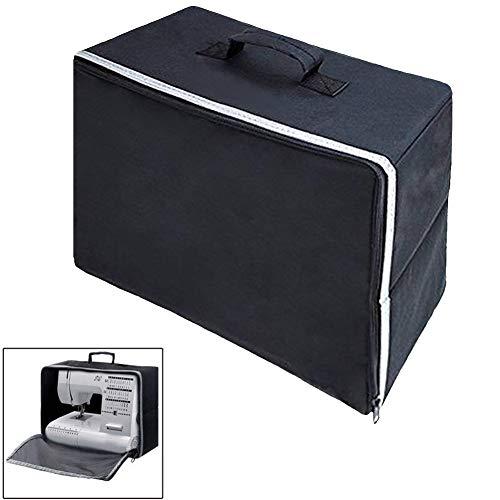 Lionina Nähmaschinenabdeckung, Schutzhülle für Haushaltsnähmaschinen mit Reißverschluss, tragbare Oxford-Stoff-Nähmaschinenhandtaschen mit Aufbewahrungskoffer