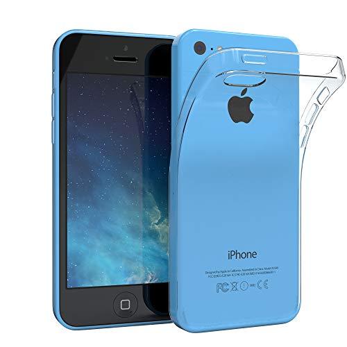EAZY CASE Hülle kompatibel mit iPhone 5C Schutzhülle Silikon, Ultra dünn Slimcover, Handyhülle, Silikonhülle, Backcover, Transparent/Durchsichtig, Transparent