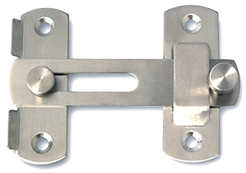 Alise MS9001 Stainless Steel Flip Latch Gate Latches Bar Latch Safety Door Lock,Brushed Finish