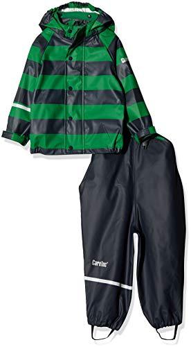 CareTec Kinder wasserdichte Regenlatzhose und -jacke im Set (verschiedene Farben), Mehrfarbig (Amazon 911), Herstellergröße: 86