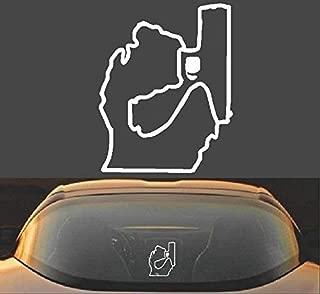 Michigan Mitten Gun Vinyl Decal Sticker