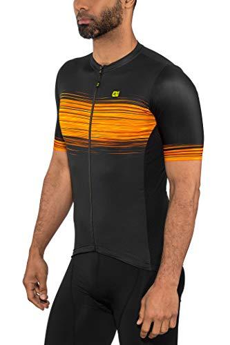 Alé Cycling Solid Start Kurzarm Trikot Herren Black Flou Yellow Größe XL 2020 Radtrikot kurzärmlig