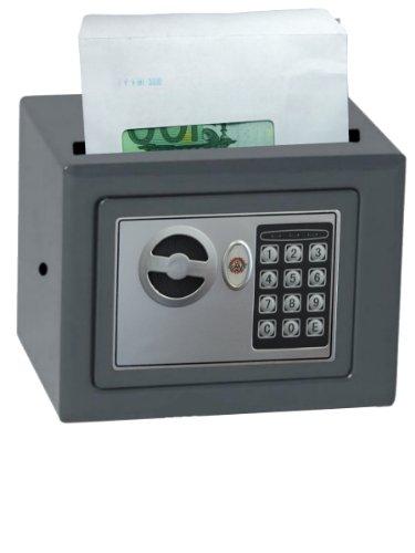 Domus HE/0 CASH kluis voor het opbergen van contant geld, met automatisch slot, grijs