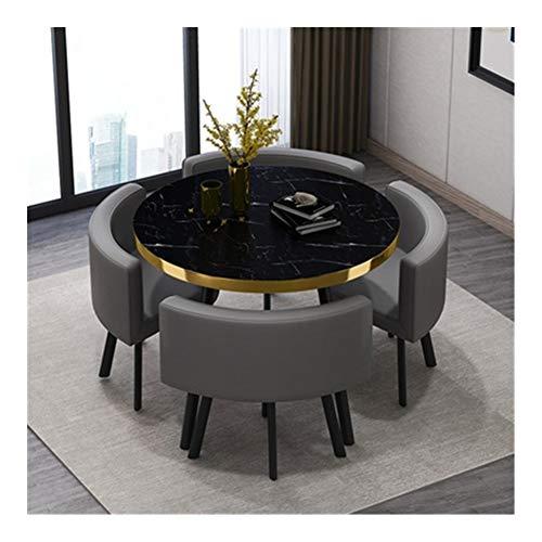 TXOZ-Q 5 Pieza Silla Moderna Mesa de Inicio de época Ronda de negociaciones de combinación Simple recepción del Cuero del Ocio Sofá Café sede de la Oficina Salón