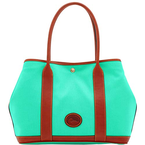 """Top hidden snap closure Double leather strap Approx. 14"""" wide. 10.5""""height. 6"""" deep"""