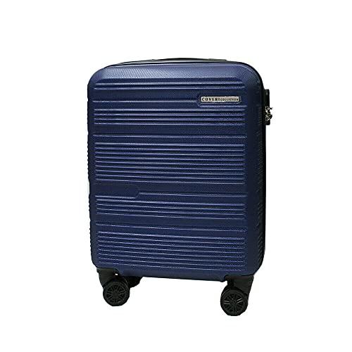 COVERI COLLECTION Maleta rígida para equipaje de mano, aprobada por la mayoría de las compañías aéreas de bajo coste (55 cm), color azul marino