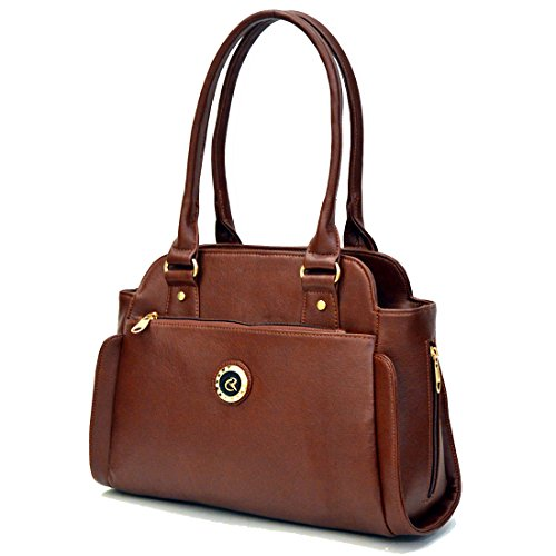 INKDICE Women's Shoulder Bag (NMLDBR1_Brown)