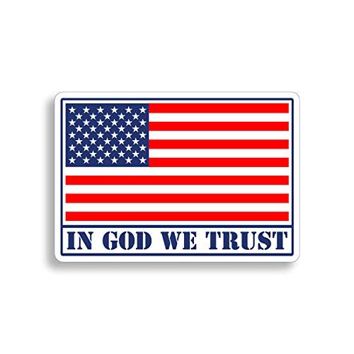 3 Inch Laminated Made In The USA Patriotic American Flag Decal Sticker