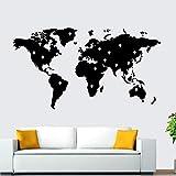 Vinyl Wandaufkleber Wanddekoration DIY Aufkleber klassische Weltkarte Familiendekoration Raum Kinderzimmerausstattung Kindergarten Wohnzimmer Schlafzimmer Dekoration Tapete 97x176cm