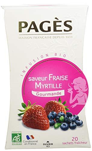 Pagès Infusion Verveine Fraise Myrtille Bio 20 sachets