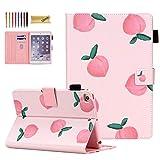iPad Mini Case,iPad Mini 5/4 Case for Kids/Girls, Dteck Slim Leather Smart Kickstand Case Flip Wallet Protective Case Compatible with Apple iPad Mini 5/4/3/2/1, Peach