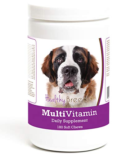 Healthy Breeds Multi-Vitamin Daily Supplement Soft Chews for Saint Bernard - Over 200 Breeds - Veterinarian Formulated & Recommended Dietary Support - 180 Chews