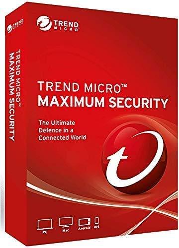 Trend Micro Maximum Security 2021 3 Geräte 3 Jahre mehrsprachig für PC, Mac, Android und iOS Product Schlüsselkarte /Etikette Windows8.1 und 10