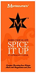 Dark chocolate with dragon ginger Made with care in the UK Montezuma's have ethical principles of 'trading fairly'