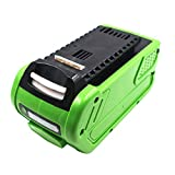 Replacement 40V 5000mAh Li-ion Rechargeable Battery for GreenWorks G40LM45 G40LT G40AB G40AC 24252 2601102 29282 29302 29462 29472 29662