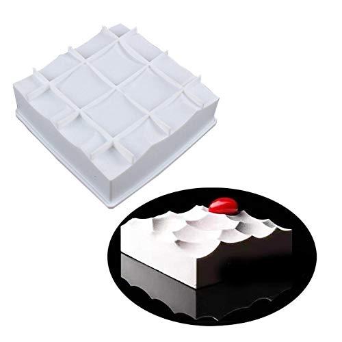 DIY schimmel geruite vorm witte muis siliconen schimmel taart bakken DIY chocolade schimmel