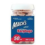 イヤープラグ(耳栓)Mack's ウルトラ ソフト フォーム 遮音性の高い耳栓 バリューパック 50ペア ベージュ [並行輸入品]