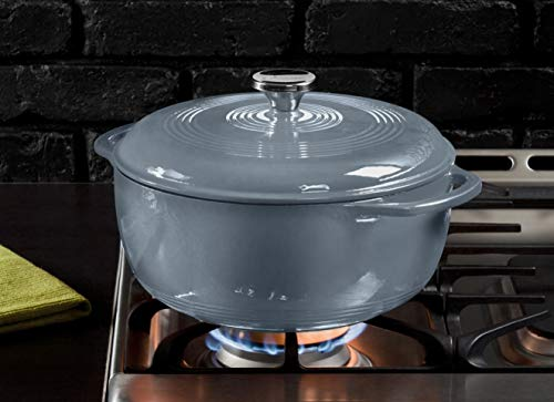 Lodge Enameled Dutch Oven, 6 Qt, Storm Blue