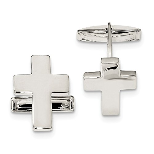 925 Sterling Silver Cross Religious Cuff Links Mens Cufflinks Link Man Fine Jewelry For Dad Mens Gifts For Him