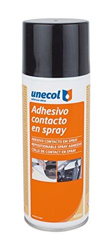 Unecol 3207 Adhesivo de contacto (espray reposicionable aerosol), Transparente, 400 ml