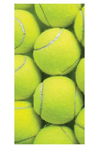 LimeWorks Badetuch, 70x140 cm, Tennis-Motiv Tennisbälle, 100% Baumwolle, Made in Holland