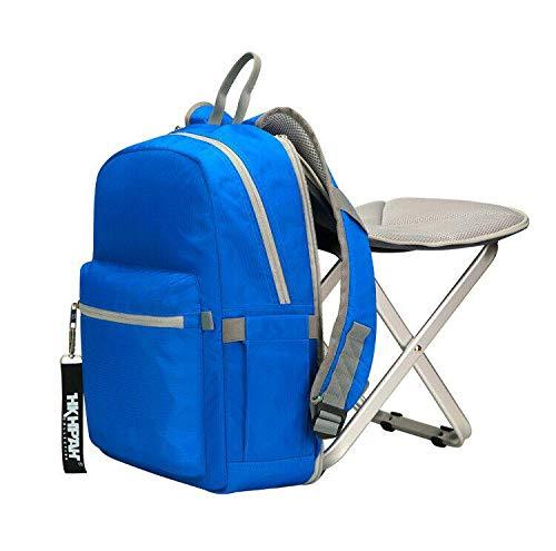 BigTron Rucksack Stuhl, Ultraleicht Angelrucksack mit Stuhl/Klappstuhl mit Rucksack für Camping, Wandern (HellesBlau)