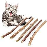 PULABO 5 piezas de juguete de hierba de gato natural Matatabi Stick Pet Cat masticar juguete de calidad superior y útil popular