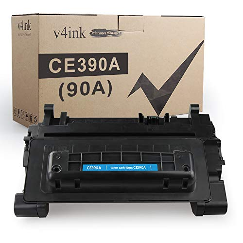 V4INK Compatible Toner Cartridge Replacement for HP 90A 90X CE390A Toner for HP Laserjet Enterprise 600 M601n M601dn M602n M602dn M602x M603n M603dn M603xh M4555f MFP M4555fskm MFP M4555h MFP Printer
