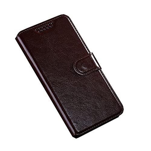 HONGGE Für Lenovo A2016A40 Vibe B 2016 Fall Brieftasche Ledertasche für Lenovo A1010A20 A Plus A1010 A2020 A1000 A6000 A7000 A7010 Coque (Color : Brown, Material : A2016A40)