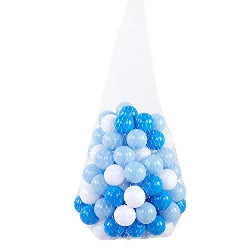 FOLOSAFENAR Bolas Blancas Coloridas del hoyo del Juguete 100pcs 2.2in, para Que jueguen los niños