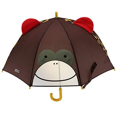 Injoyo Reizender Tierkinderregenschirm Der Karikatur 3D Für Kinderstudenten Netten Regenschirm - AFFE