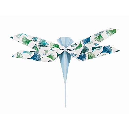 Clairefontaine 95354C – Beutel Origami, 60 Blatt, 15 x 15 cm, 70 g, verschiedene Motive, pflanzlich chic