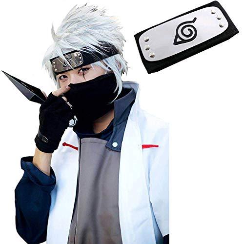 MUEKA High-Grade Comfortable Safe Naruto Cosplay Headband, Naruto Costume Leaf Village Ninja Headband Kakashi Cosplay