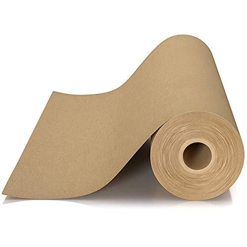 Growment Rouleau de papier kraft pour emballage, déménagement, emballage cadeau, expédition, colis, art mural, tableau d'affichage, revêtement de sol.