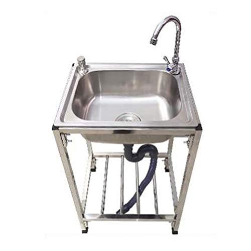 Fregadero cocina organizador Fregadero Fregadero de acero, fregadero de cocina de acero inoxidable con válvula de ángulo Dispositivo de drenaje de grifo a prueba de explosiones Tubería de agua superio