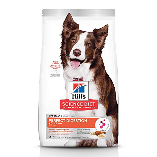 Hill's Science Diet Adult Dog Dry Perfect Digestion Chicken, Brown Rice, & Whole Oats Recipe, 22 lb Bag