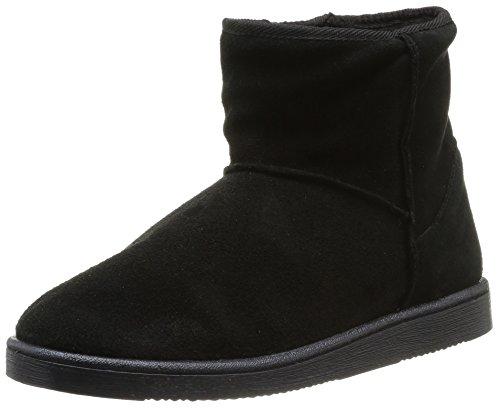 Pieces PS Ume Suede Boot Black, Boots Femme - Noir (Black), 38 EU